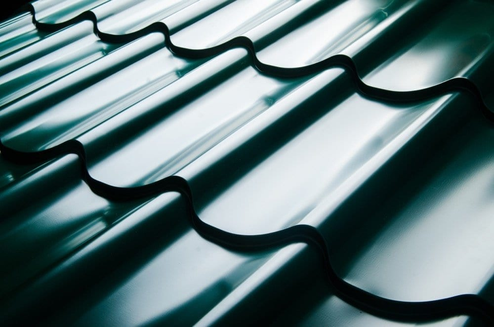 Calgary Roofing Companies | Claw Roofing | close up of metal roof tiles